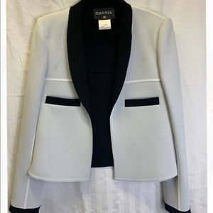 Chanel black and white blazer
